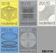 Nederland NL 965#969  1970 Computertekeningen  cent  Gestempeld