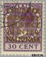 Nederland NL D15  1934 Cour Permanente de Justice 30 cent  Gestempeld