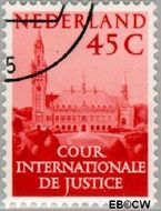 Nederland NL D42  1951 Cour Internationale de Justice 45 cent  Gestempeld
