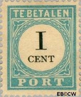 Nederland NL P3  1881 Portzegel 1 cent  Gestempeld