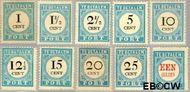 Nederland NL P3#P12  1881 Portzegel  cent  Gestempeld