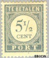 Nederland NL P52  1912 Portzegel 5½ cent  Gestempeld