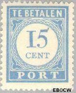 Nederland NL P57  1912 Portzegel 15 cent  Gestempeld