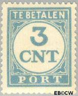Nederland NL P69  1921 Portzegel 3 cent  Gestempeld