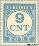Nederland NL P74  1921 Portzegel 9 cent  Gestempeld