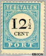 Nederland NL P8  1881 Portzegel 12½ cent  Gestempeld