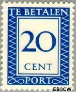 Nederland NL P93  1947 Portzegel 20 cent  Gestempeld