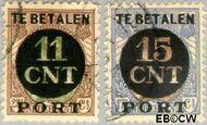 Nederland NL PV1#PV2  1923 Interne verrekeningszegel 15 op 17½ cent  Gestempeld