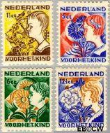 Nederland NL R94#R97  1932 Kinderen en bloemen  cent  Gestempeld
