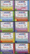 Nederlandse Antillen NA 1667#1676  2006 iPOS labels  cent  Postfris