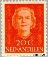 Nederlandse Antillen NA 223  1950 Type 'En Face' 20 cent  Gestempeld