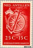 Nederlandse Antillen NA 243  1952 Zeemanswelvaren 25+15 cent  Gestempeld
