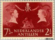 Nederlandse Antillen NA 253  1955 Koninklijk bezoek 7½+2½ cent  Gestempeld