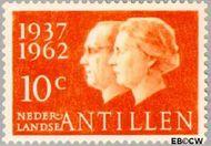 Nederlandse Antillen NA 323  1962 Huwelijksjubileum Juliana en Bernhard 10 cent  Gestempeld