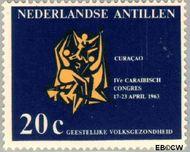 Nederlandse Antillen NA 334  1963 Caraïbisch congres 20 cent  Gestempeld