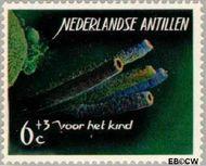 Nederlandse Antillen NA 364  1965 Zeeleven 6 cent  Gestempeld