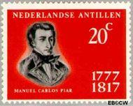 Nederlandse Antillen NA 384  1967 Manuel Carlos Pier  cent  Gestempeld