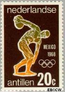 Nederlandse Antillen NA 394  1968 Olympische Spelen- Mexico 20 cent  Gestempeld