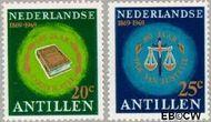 Nederlandse Antillen NA 408#409  1969 Hof van Justitie  cent  Gestempeld