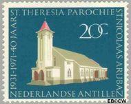 Nederlandse Antillen NA 434  1971 St.Theresia Parochie 20 cent  Gestempeld