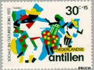 Nederlandse Antillen NA 454  1972 Muziek 30+15 cent  Gestempeld