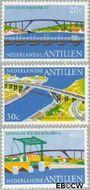 Nederlandse Antillen NA 500#502  1975 Bruggen  cent  Gestempeld