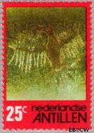 Nederlandse Antillen NA 534  1977 Rotstekeningen 25 cent  Gestempeld