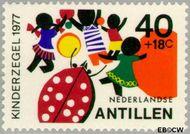 Nederlandse Antillen NA 554  1977 Fantasie-dieren 40+18 cent  Gestempeld