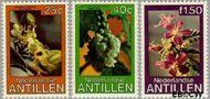 Nederlandse Antillen NA 633#635  1979 Bloemen  cent  Gestempeld