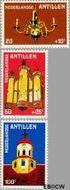 Nederlandse Antillen NA 645#647  1980 Fortkerk  cent  Postfris