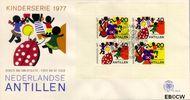 Nederlandse Antillen NA E106a  1977 Fantasie-dieren  cent  FDC zonder adres