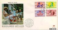 Nederlandse Antillen NA E57  1969 Kind en muziek  cent  FDC zonder adres