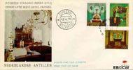 Nederlandse Antillen NA E60  1970 Kerken  cent  FDC zonder adres