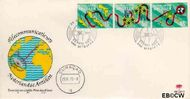Nederlandse Antillen NA E77  1973 Nieuwe telefoonkabel  cent  FDC zonder adres