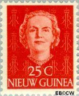 Nieuw-Guinea NG 12  1950 Type 'En Face' 25 cent  Gestempeld