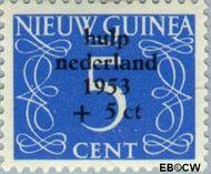 Nieuw-Guinea NG 22  1954 Watersnood 5+5 cent  Gestempeld