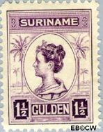 Suriname SU 102  1913 Palmtype 150 cent  Gestempeld