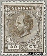 Suriname SU 12  1880 Eerste emissie 40 cent  Gestempeld