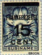 Suriname SU 133  1927 Opruimingsuitgifte 15 op 150 cent  Gestempeld