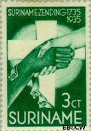 Suriname SU 153  1935 Zendingswerk 3+1½ cent  Gestempeld