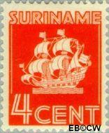 Suriname SU 163  1936 Scheepje 4 cent  Gestempeld