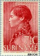 Suriname SU 193  1940 Leprabestrijding 7½+5 cent  Gestempeld