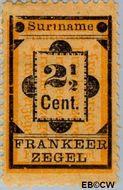 Suriname SU 22  1892 Hulpuitgifte 2½ cent  Gestempeld