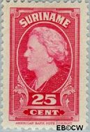 Suriname SU 233  1945 Koningin Wilhelmina 25 cent  Gestempeld