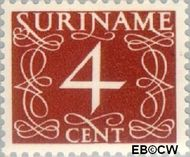 Suriname SU 254  1948 Cijferzegels 4 cent  Gestempeld