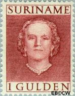Suriname SU 294  1951 Type 'En Profile' 100 cent  Gestempeld