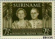 Suriname SU 324  1955 Koninklijk bezoek 7½+2½ cent  Gestempeld