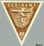 Suriname SU 344  1960 Opening luchthaven Zanderij 40 cent  Gestempeld