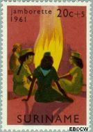 Suriname SU 374  1961 Jamborette 20+5 cent  Gestempeld