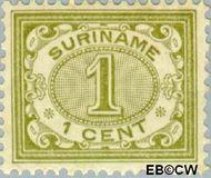 Suriname SU 42  1902 Drukwerkzegel 1 cent  Gestempeld
